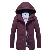 2016冬装新款战地吉普中长款可脱卸帽羽绒服 B01男士加厚防寒保暖
