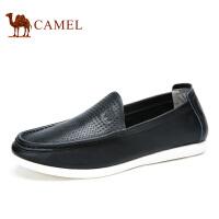 camel骆驼男鞋 春季新款 乐福鞋男士休闲鞋皮鞋子潮鞋