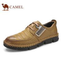 camel骆驼  秋季新款压花皮质男士鞋 头层皮舒适透气