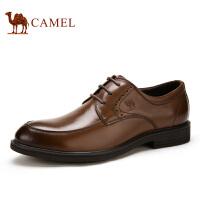 camel骆驼男鞋  新款系带皮鞋 男士商务休闲皮鞋