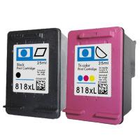 彩帝 兼容 惠普 HP818XL墨盒 适用于D1668  D2568   D2668     F2488    F2418               墨盒套装