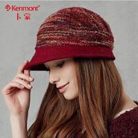 kenmont羊毛呢帽子女小礼帽 英伦 女盆帽贝雷帽 鸭舌帽子2357