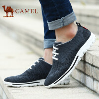 camel骆驼男鞋 春秋新款运动休闲鞋透气鞋子网布鞋潮网面鞋