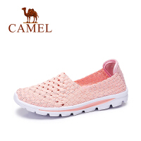 Camel/骆驼女鞋 春季新款 七彩拼色轻便平底鞋 透气单鞋女