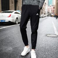 adidas阿迪达斯2017年新款男子运动全能系列针织长裤B47218