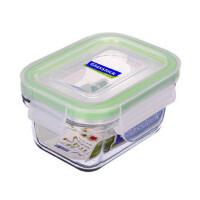 GLASS LOCK 三光云彩 韩国进口钢化玻璃乐扣保鲜盒微波饭盒辅食盒RP559/180ml SG317-14