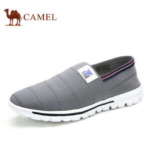 camel骆驼男鞋 潮鞋舒适男士休闲鞋子 新款轻布鞋套脚