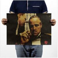 教父/经典电影/复古牛皮纸海报/酒吧咖吧装饰画51x35.5cm