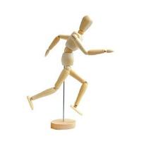 8英寸木人模型 20cm漫画木头人 素描木偶人关节人 木头人偶