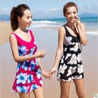 韩版遮肚款大码泳装女士温泉游泳衣连体裙式正品舒漫1053泳衣