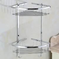 【货到付款】贝乐BALLEE 全铜双层网篮浴室三角架TL005-9