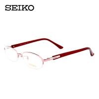 精工半框纯钛女士超轻镜架配近视 眼镜框女款商务H02066