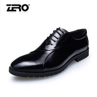 零度尚品 新款男士头层牛皮擦色皮皮鞋 时尚男鞋正装鞋 65021