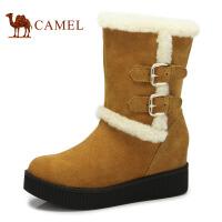 camel骆驼 冬季时尚保暖内增高金属牛皮扣新款 时装靴 81053609