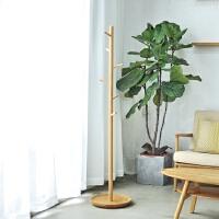 【小树衣帽架】原创设计 实木落地卧室挂衣架子 日式简约   创木工房