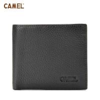 camel骆驼 男款 牛皮尊贵绅士 横款钱包 皮夹短款钱包 MC103001-01