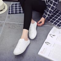 【满199减100】Galendar女子板鞋2017新款轻便简约半托板鞋懒人包头凉拖鞋一脚蹬小白鞋 MG2328