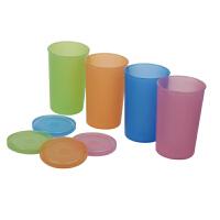 特百惠qq水杯140ML迷你水杯儿童水杯便携小杯子4件套