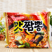 韩国进口方便面 农心真海鲜拉面 煮面速食泡面 130g*5包装