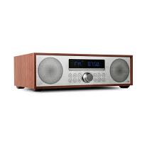 JBL MS402WALCN 迷你音响 电视音箱音响 家庭影院 USB/CD播放机 FM收音机蓝牙苹果闪电接口木质音箱