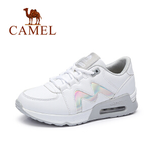 Camel/骆驼女鞋 2017秋季新款舒适时尚慢跑鞋 气垫运动女鞋