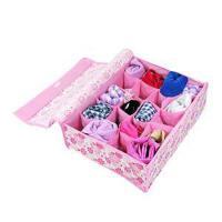 卡秀收纳粉色小花20格软盖收纳盒JJA75