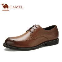 camel骆驼男鞋 流行男鞋春季商务正装 系带皮鞋西装鞋