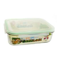 GlassLock三光云彩 韩国进口钢化玻璃乐扣可微波保鲜盒便当盒饭盒RP532 2000ml颜色随机 SG332-31