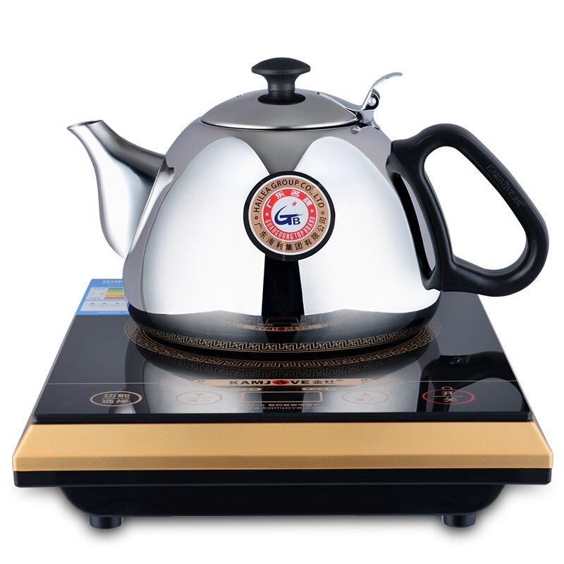 kamjove/金灶a818热水壶烧水电磁茶炉电磁炉茶具不锈钢壶送消毒锅