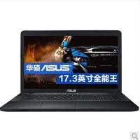 【支持礼品卡支付】华硕(ASUS) K751LX5200 17.3英寸影音笔记本(I5 5200  4G内存1TB硬盘 GT950-2G独显   ASUS) A751LX550017.3英寸影音笔记本I7 5500 4G内存1TB硬盘 GT950-2G独显WIN10 黑色)