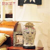墨菲欧式台灯创意时尚简约现代卧室床头手绘陶瓷客厅婚庆装饰灯具