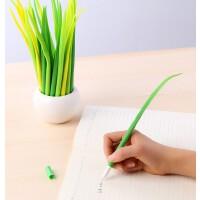 小草造型中性笔 韩版中性笔 签字笔