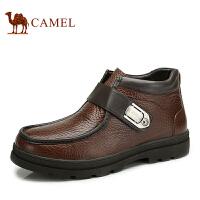 CAMEL骆驼 新品 头层牛皮 雅典时尚 男士日常休闲短靴 82201600