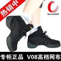 瓦娜沙vanassa 帆布舞蹈鞋现代舞鞋健身鞋爵士鞋街舞鞋 V08 黑色