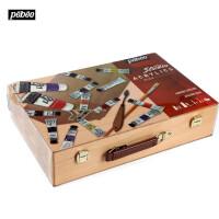贝碧欧12色20ml丙烯木盒工具箱套装 儿童绘画颜料组合834662C