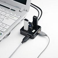 【品牌直供】日本SANWA 包邮! 分线器 USB扩展 7口USB集线器 无需电源 双核高速USB分线器
