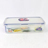 [当当自营]LOCK&LOCK乐扣乐扣 800ml普通长方形保鲜盒分隔密封饭盒便当盒餐盒冰箱收纳盒 HPL816C(带可移动隔板)