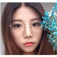 韩版圆脸简约超轻时尚舒适防辐射防紫外线平光眼睛框复古眼镜框男女近视眼镜架支持礼品卡支付