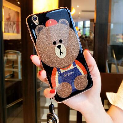 【支持礼品卡】可爱熊情侣壳 vivoy55手机壳女款步步高y55a手机套硅胶