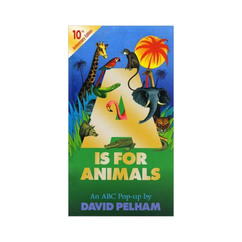 a是动物(立体书) 英文原版 a is for animals(pop-up) david pelham