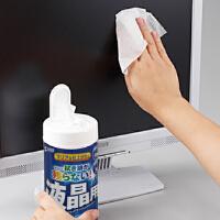 【品牌直供】日本SANWA CD-WT4N-C 80抽桶装纸巾 清洁纸巾 电脑湿纸巾 液晶清洁