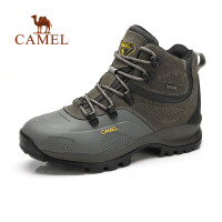 camel骆驼户外登山鞋 男士户外越野鞋高帮防滑徒步登山鞋