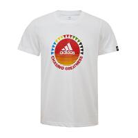 ADIDAS阿迪达斯 男子运动休闲短袖T恤 AP6417 现