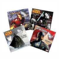 【包邮】 Disney迪斯尼原版有声读物 英雄系列:美国队长+钢铁侠+星球大战(4本书+配套CD)