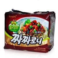 韩国进口方便面 三养炸酱面拉面干拌面速食泡面袋装140g*5连包