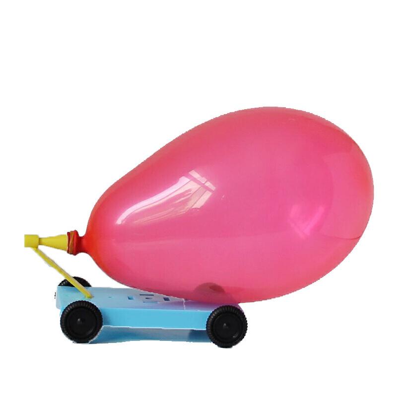 小学生科技小制作 幼儿园科学实验玩具小发明diy材料气球反冲小车图片