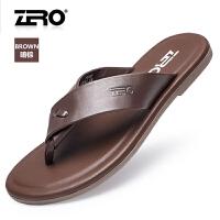 Zero零度凉鞋 男夏季新款时尚沙滩鞋舒适人字拖男士凉拖鞋子F6165