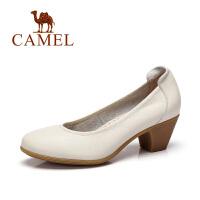 camel骆驼女鞋 简约舒适2016春季新款圆头女鞋简约通勤