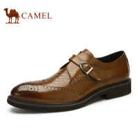 camel骆驼男鞋 时尚英伦布洛克雕花男鞋  冬季皮鞋