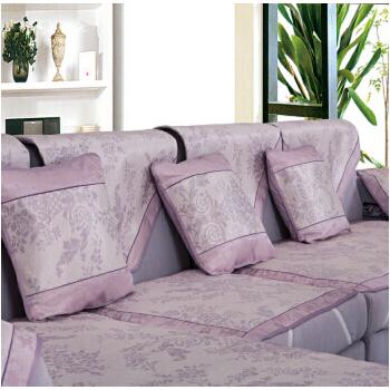米悦家纺 沙发凉席 夏凉垫冰丝藤席沙发垫 欧式古典大提花 紫色 mkj 7